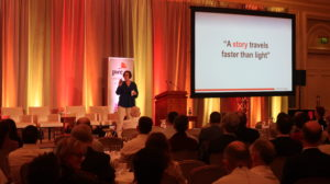 Ann Booth-Clibborn sharing stories with PwC Ireland
